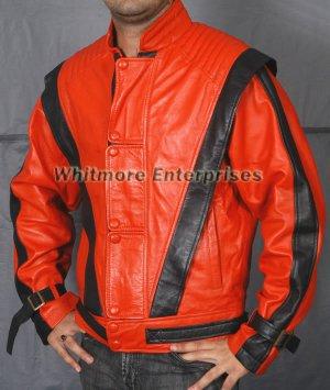 Michael Jackson THRILLER Red Stylish Original Leather Jacket - All Sizes