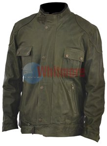 Wanted Wesley Gibson McAvoy Olive Green Stylish Original Leather Jacket