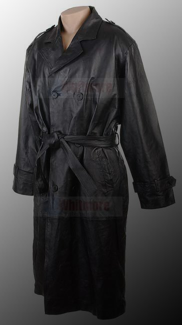 Matrix Trilogy Movie Neo Reeves Black Long Trench Original Cow Hide Leather Coat
