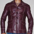 Tyler Durden Brad Pitt Fight Club Brown Original Leather Coat -All Sizes