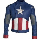 Men Evans Captain America Avengers Faux Leather Jacket