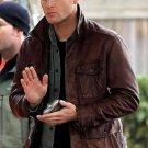 Men's Supernatural Season 7 Dean Winchester Genuine Brown Cow Leather Jacket / Coat