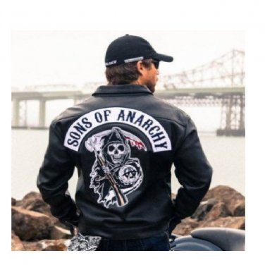 Sons of Anarchy Slim Fit Biker Highway Faux Leather Jacket