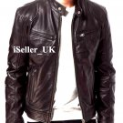 Bomber Rider Slim Fit Casual Stylish Black / Brown Real Leather Jacket