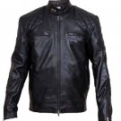 David Beckham Black CowHide Leather Jacket