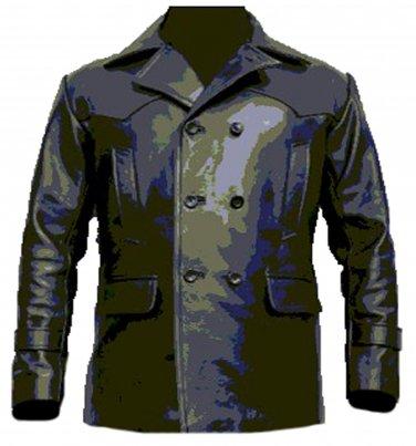 Dr Who Uboat German Kreigsmarine Submarine Cowhide Leather Coat Jacket