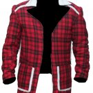 Men's Deadpool Ryan Reynold Shearling Fur Jacket Coat