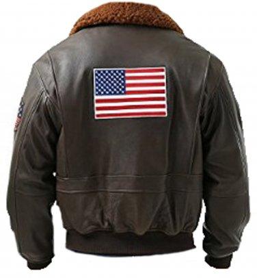 Men's Top Gun G-1 Fight Bomber Goatskin Leather Jacket