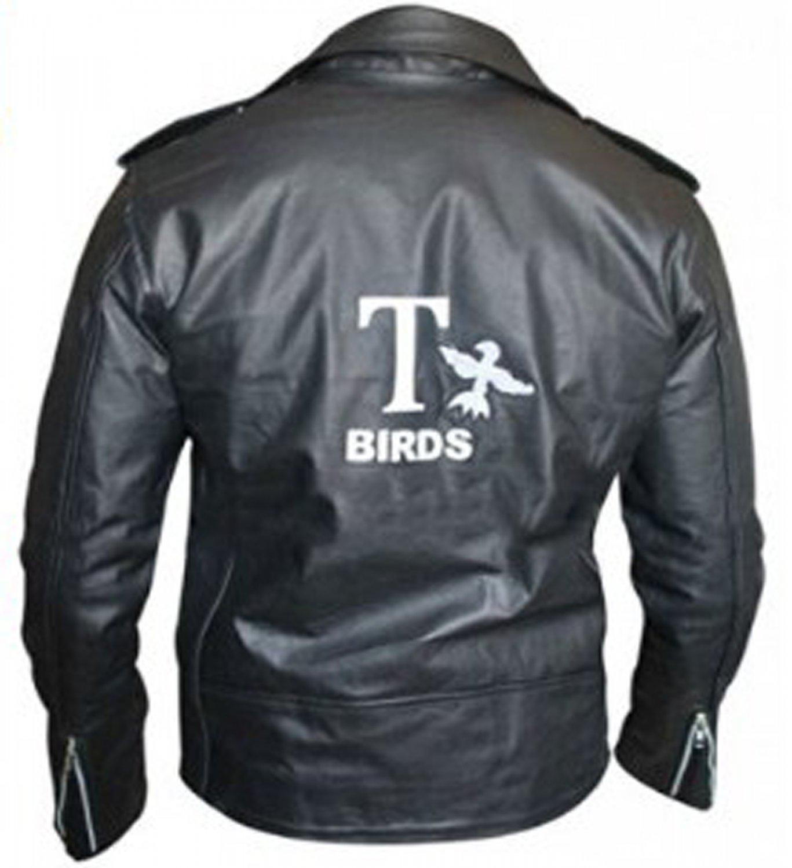 Grease 2 Fancy Dress John Travolta T Birds Black Leather Jacket