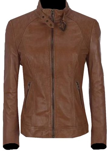 Bomber Rider Slim Fit Casual Stylish Brown Leather Jacket