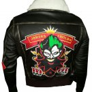Bombshell Harley Quinn Jokers Wild Brown Leather Jacket