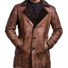 Bomber Rider Slim Fit Casual Stylish Brown Fur Leather Jacket