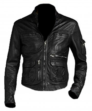 Bomber Rider Slim Fit Casual Stylish Black Leather Jacket