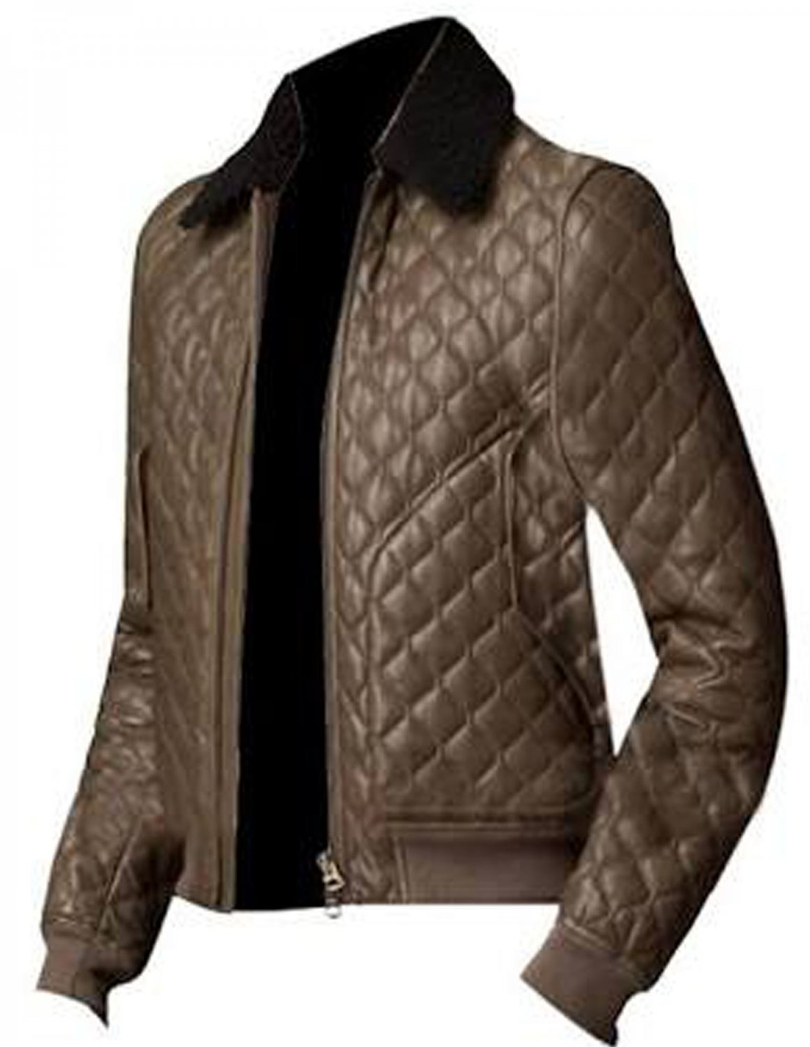 Kevin Hart Quilted Brown Leather Jacket