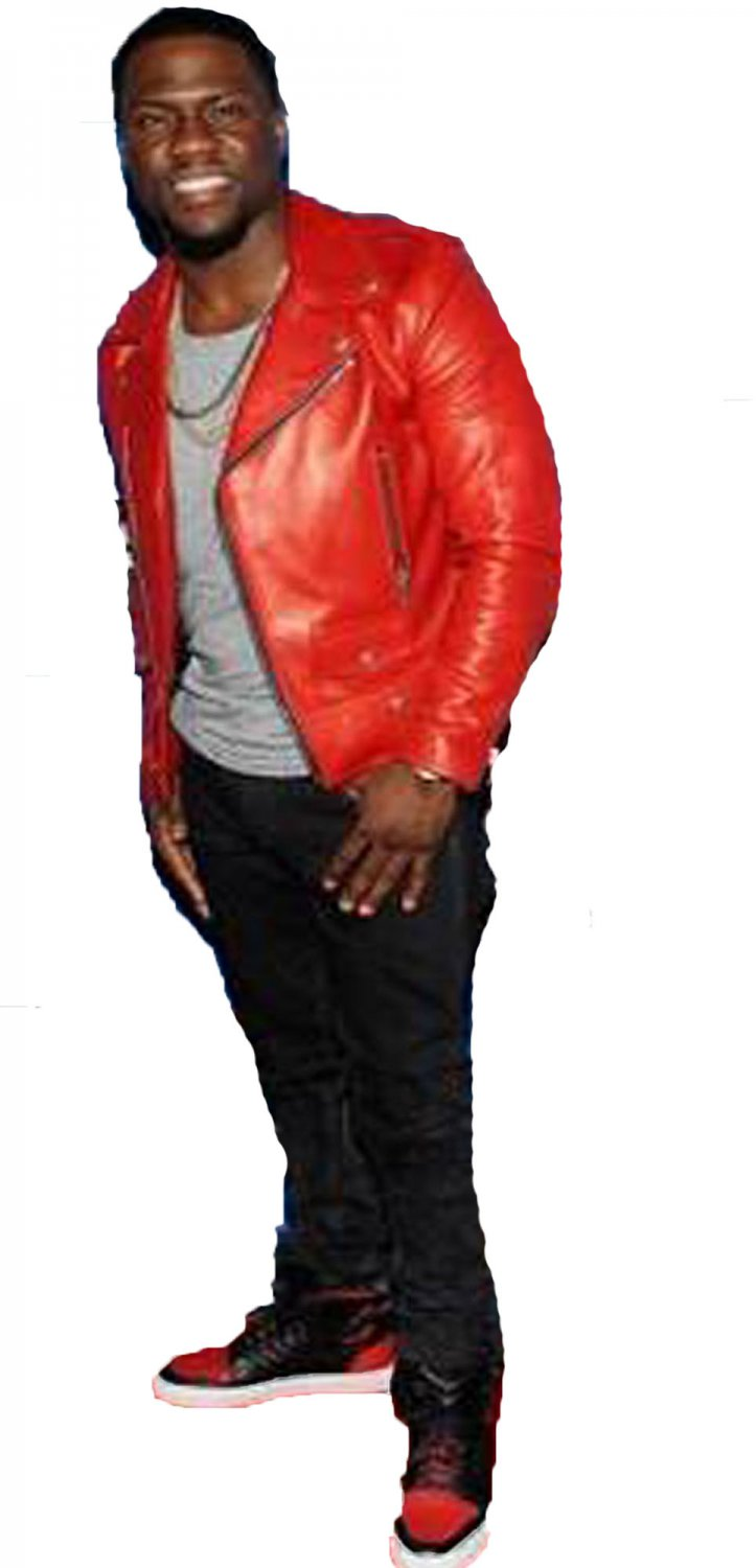 Kevin Hart Quilted Red Leather Jacket