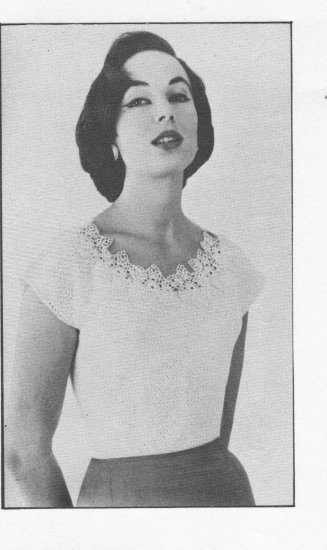 Vintage Crochet Blouse Pattern