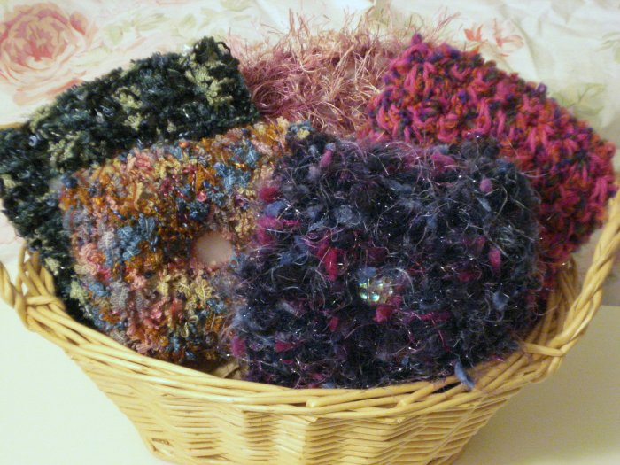 Knit Crochet Potpourri Holder