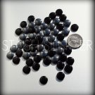 Lovely Mixed Vintage Black and Hematite Glass Puff Disk Beads LOT (50)