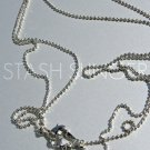 Sparkly Delicate Silver Rhodium Plated Ready-to-Wear Ball Chains (15)