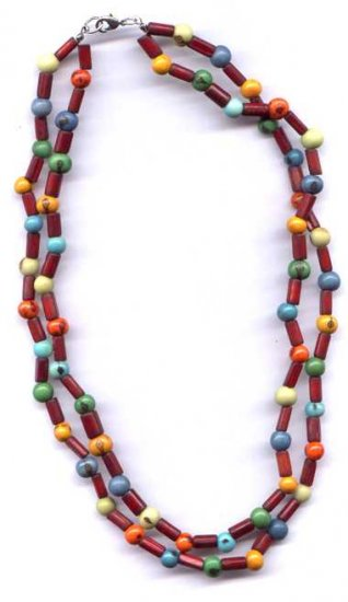 Organic Bambu & Acai necklace