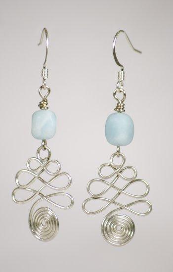 Amazonite Wire Earrings