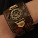 steampunk handmade wrist watch Backstrap GEO 3