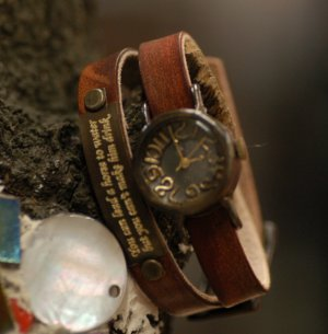 bracelat type  watch VINTAGE T-LADY-NAME made to order for gift