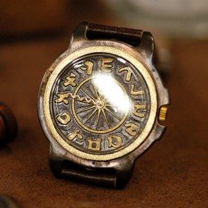 SteamPunk style antique brass Handmade wrist Watch CONSONANT made to order