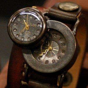 """Antique SteamPunk  wrist Watch  """" CROW """""""