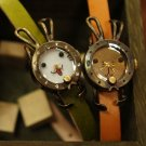 "Rabbit inspiration fashion wrist jewelry ""KOUSAGI"" Made to Order handmade watch"