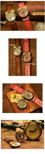 Vintage SteampunkS jewelry style handmade watch RING