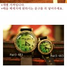 Vintage SteampunkS jewelry style handmade watch PAIR-3