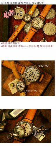 Vintage SteampunkS jewelry style handmade watch PAIR-2
