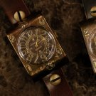 "K-pop Fashion icon wrist watch ANTIQUE STEAMPUNK type handmade watches "" DUO """