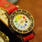 Korea Brass Fashion wrisr jewelry  RAINBOW Made to Order handmade enamel watch