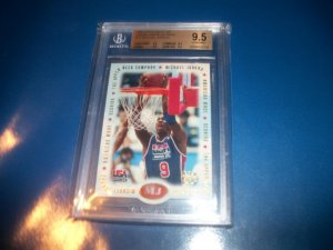Michael Jordan 1996 Upper Deck USA Jordan American Made #M1 BGS 9.5