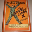 The Divorce of Lady X (1937) Starring Merle Oberon and Laurence Olivier (VHS Tape)