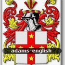 ADAMS - English - Coat of Arms - Family Crest GIFT! 4x6