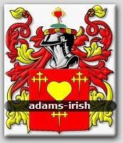 ADAMS - Irish - Coat of Arms - Family Crest GIFT! 4x6