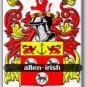 ALLEN - Irish - Coat of Arms - Family Crest GIFT! 4x6