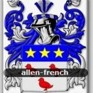 ALLEN - French - Coat of Arms - Family Crest GIFT! 4x6