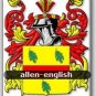 ALLEN - English - Coat of Arms - Family Crest GIFT! 4x6