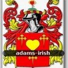 ADAMS - Irish - Coat of Arms - Family Crest - Armorial - GIFT! 8.5x11