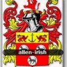 ALLEN - Irish - Coat of Arms - Family Crest - Armorial GIFT! 8.5x11