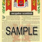 MCGAHA - SCOTTISH - Armorial Name History - Coat of Arms - Family Crest GIFT! 8.5x11
