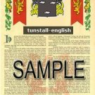 TUNSTALL - ENGLISH - Armorial Name History - Coat of Arms - Family Crest GIFT! 8.5x11