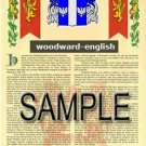 WOODWARD - ENGLISH - Armorial Name History - Coat of Arms - Family Crest GIFT! 8.5x11