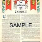 11x17 in LARGE SIZE - Armorial Name History - Coat of Arms - Family Crest GIFT!