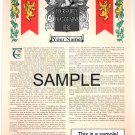 ANY NAME (Starts with AA-AB) 11x17 - Armorial Name History - Coat of Arms - Family Crest GIFT!