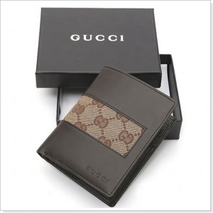 GUCCI Brown Monogram Canvas/Leather Men's Wallet